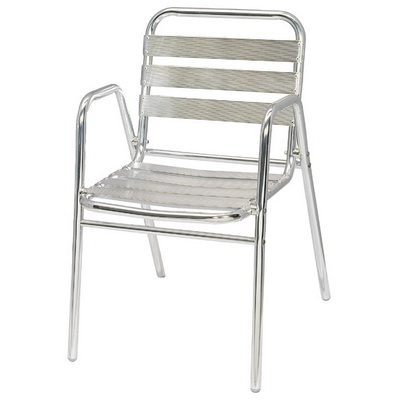 Aluminum Arm Chair Seven Strips
