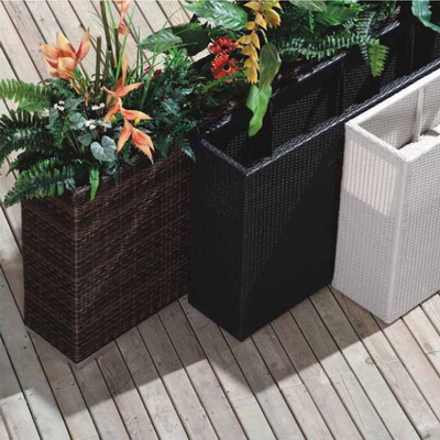 Planters Patio Planters All Weather Wicker Planters